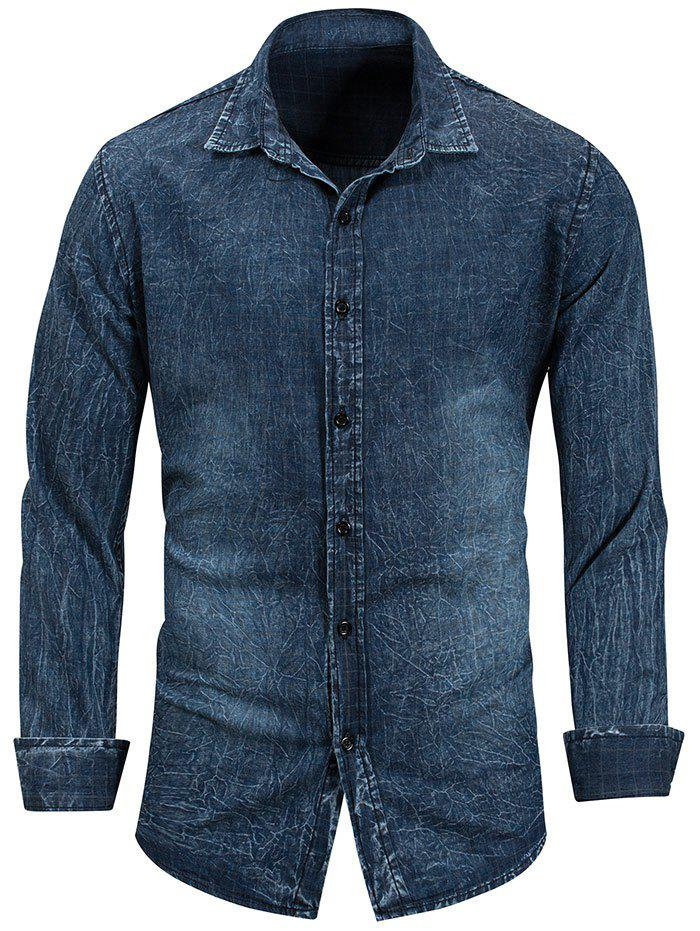 Hot Long Sleeve Casual Denim Shirt