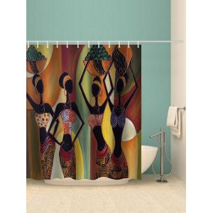 African Tribal Girls Print Shower Curtain -