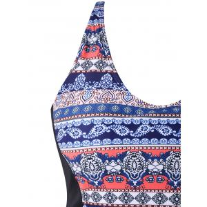 Retour Cut Out Plus Size Tribe Print Maillots de bain -