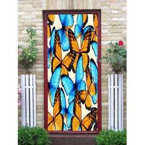 Butterflies Print Door Cover Stickers -
