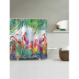 Flamingos Feast Print Shower Curtain -