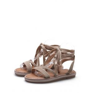 Plus Size Leisure Vacation Lace Up Sandals -