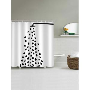 Open Shower Head Print Bath Curtain -