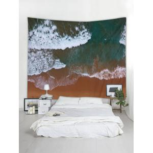 Clay Seaside Pattern Wall Tapestry Decoration -