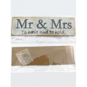 Mr et Mme Wood signe Decor mariage photo ensemble de support -