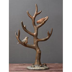 Bird Tree Branch Shape Resin Jewelry Rack -