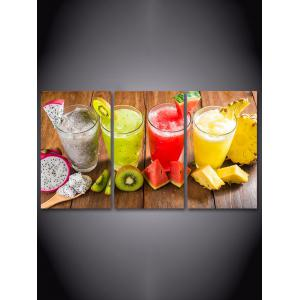 Fruit Juice Print Unframed Split Canvas Paintings -