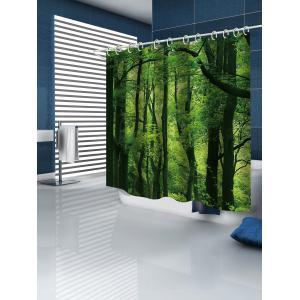 Forest Print Waterproof Bathroom Shower Curtain -
