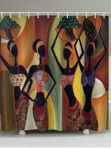 Buy African Tribal Girls Print Shower Curtain