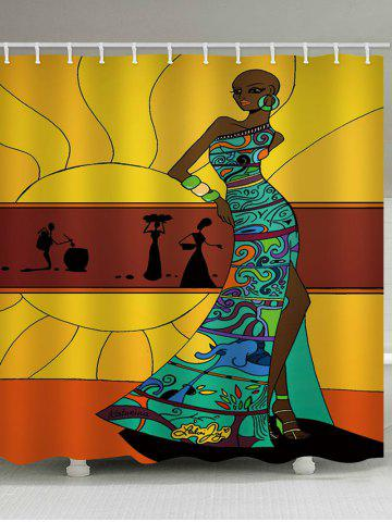 Best Fashion African Lady Print Bath Curtain