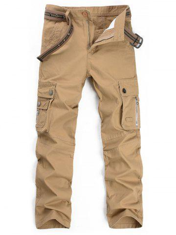 Store Straight Leg Multi Pockets Cargo Pants