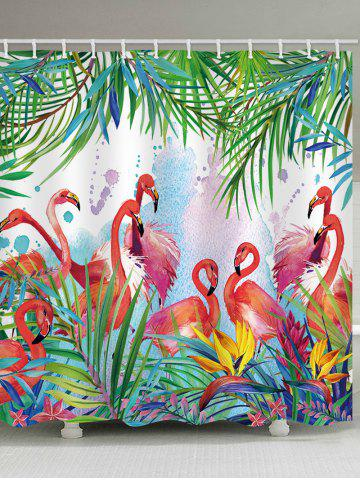 Fashion Flamingos Feast Print Shower Curtain