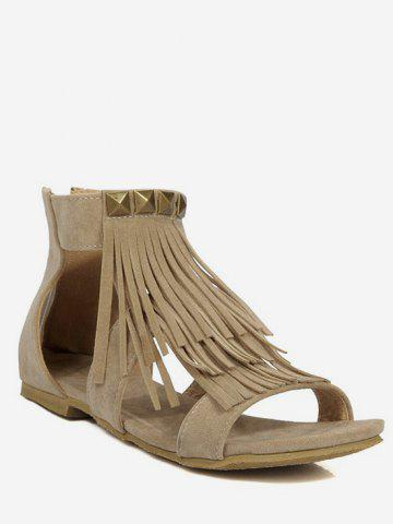 Store Plus Size Fringes Casual Flat Heel Sandals