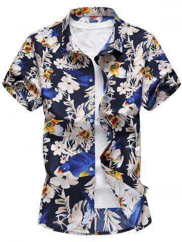 Buy Button Up Floral Print Casual Shirt