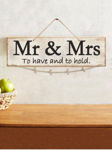 Mr et Mme Wood signe Decor mariage photo ensemble de support