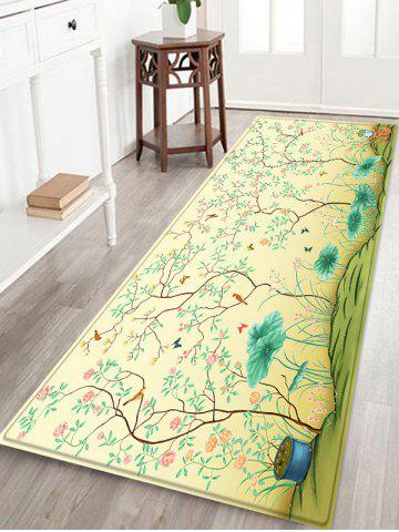 Affordable Plant Pattern Non-slip Floor Area Rug