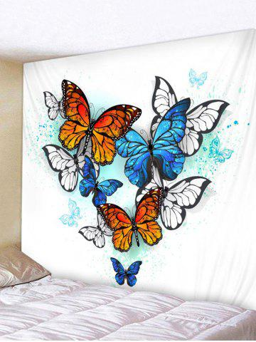 Trendy Butterfly Pattern Wall Tapestry Hanging Decor