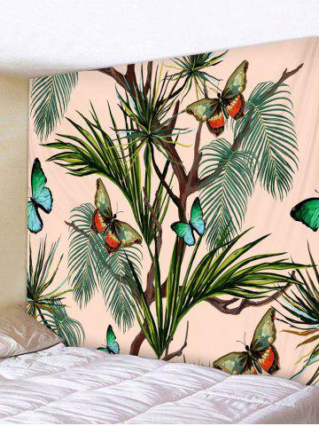 Trendy Butterfly Tree Pattern Tapestry Hanging Decor