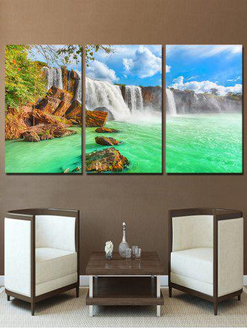 Chic Waterfall River Print Unframed Split Canvas Paintings
