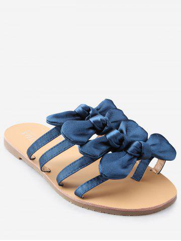 Casual Vacation Bows Decorated Flat Heel Slides