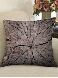 Tree Growth Ring Print Decorative Linen Sofa Pillowcase -