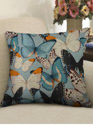 Colorful Butterfly Print Decorative Linen Sofa Pillowcase -