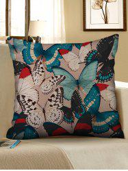Butterflies Print Decorative Linen Sofa Pillowcase -