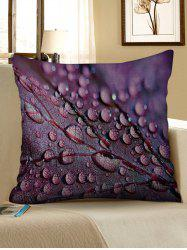 Leaf Texture Print Decorative Linen Sofa Pillowcase -