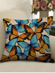 Butterfly Print Decorative Linen Sofa Pillowcase -