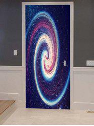 Galaxy Vortex Print Door Cover Stickers -