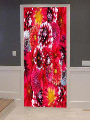 Flowers Print Door Cover Stickers -