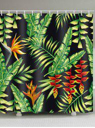 Palm Leaf Print Shower Curtain -