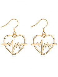 Stylish Electrocardiogram Heart Hook Earrings -