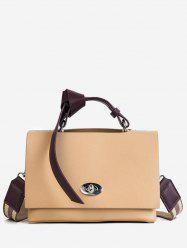 PU Leather Knotted Handle Shoulder Bag -
