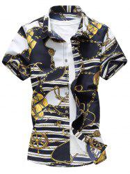 Casual Link Chain Print Shirt -