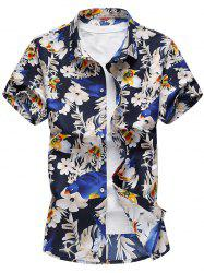 Button Up Floral Print Casual Shirt -