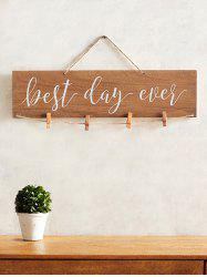 Best Ever Day Wood Sign Wedding Decor Photo Holder Set -