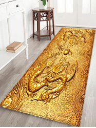 Chinese Dragon Design Flannel Area Rug -