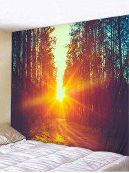 Sunset Forest Pattern Wall Tapestry Hanging Decor -