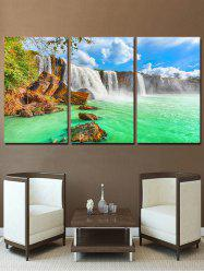 Waterfall River Print Unframed Split Canvas Paintings -