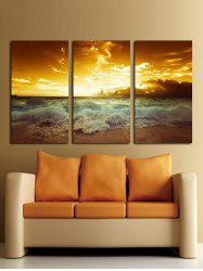 Seaside Sunset Unframed Canvas Paintings -