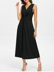 V Neck Casual Twist Dress -