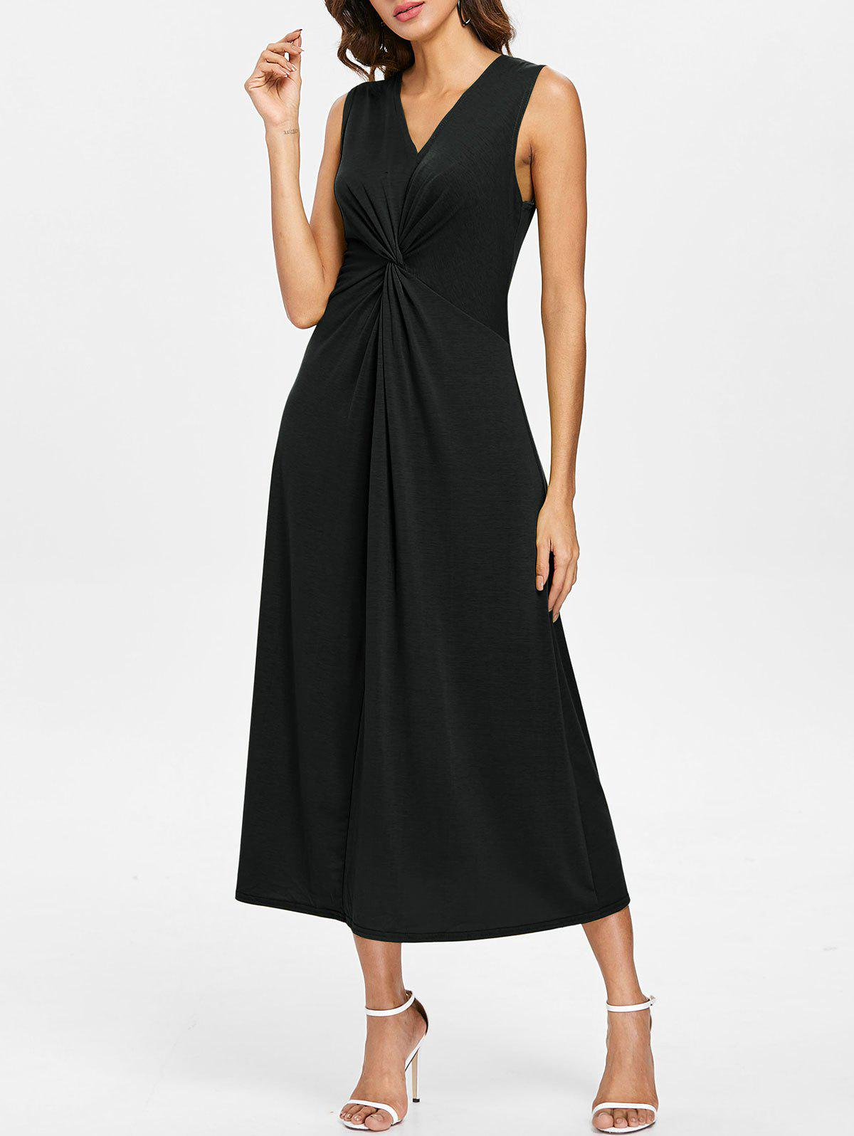 Fashion V Neck Casual Twist Dress