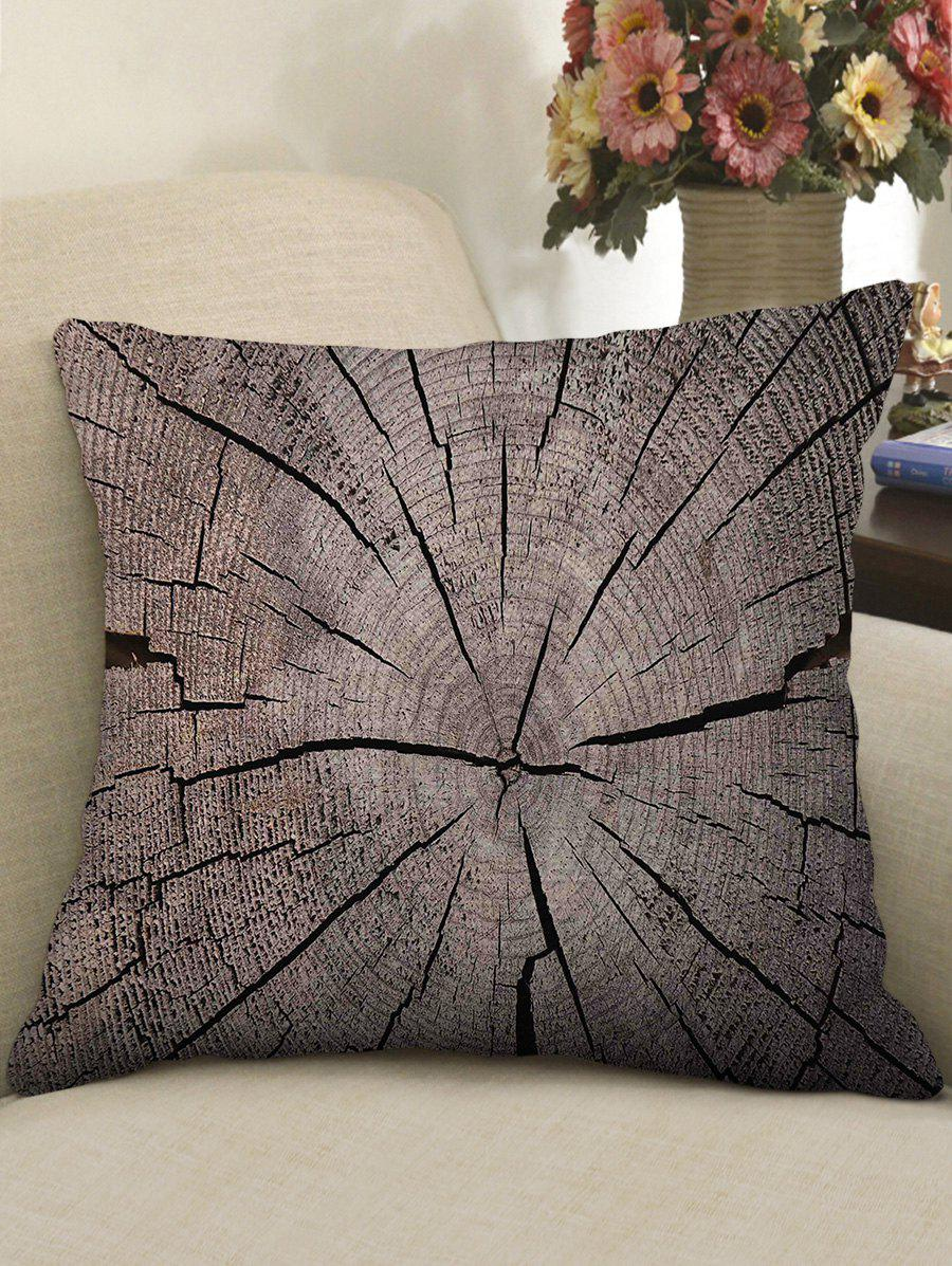 Affordable Tree Growth Ring Print Decorative Linen Sofa Pillowcase