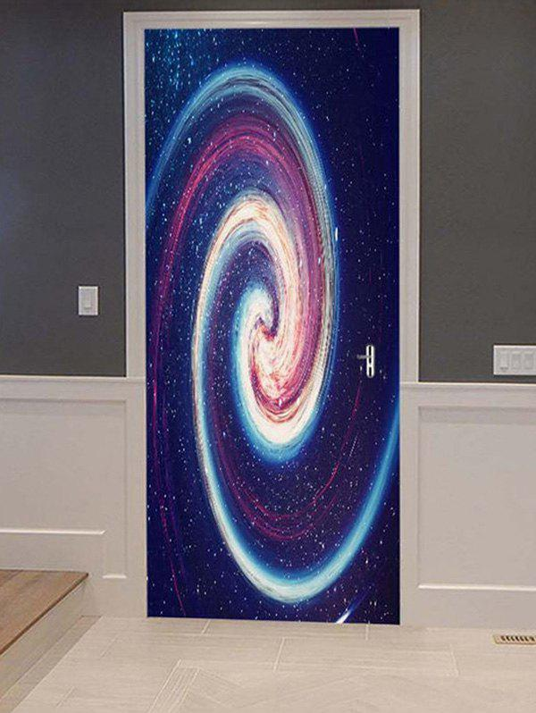 Fancy Galaxy Vortex Print Door Cover Stickers