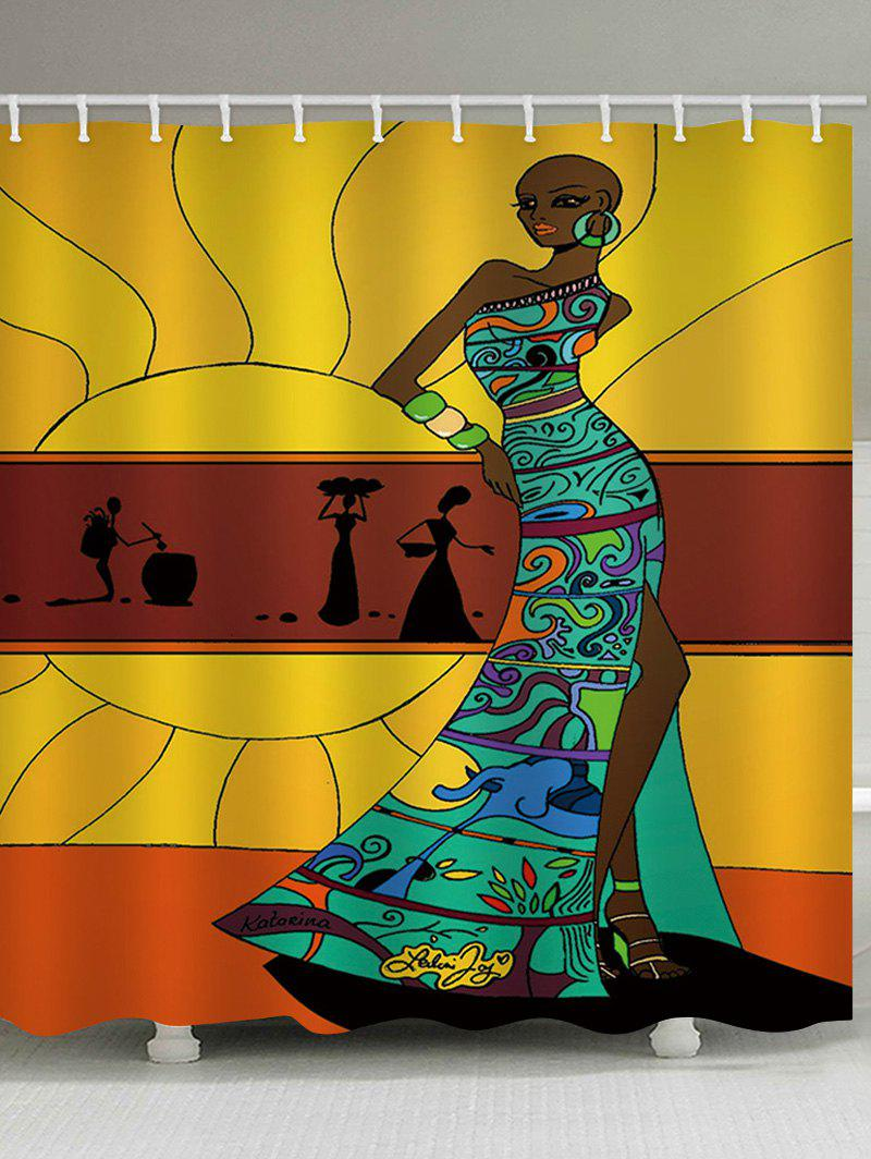 Sale Fashion African Lady Print Bath Curtain