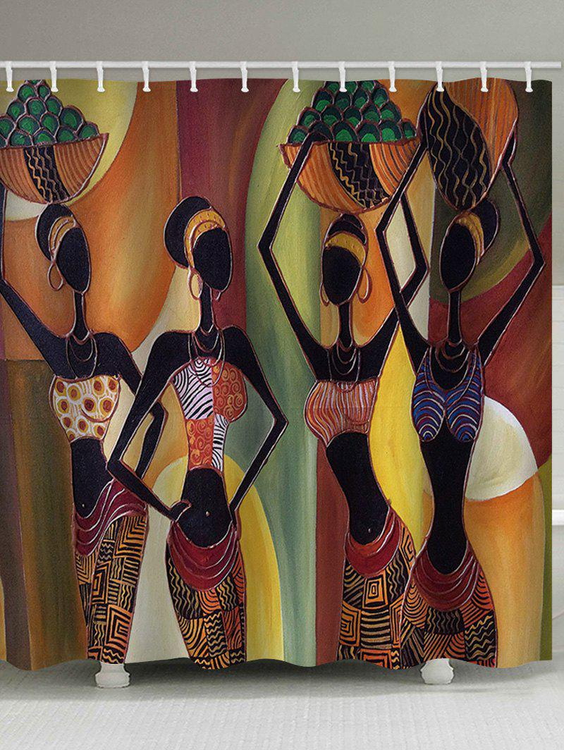 Unique African Tribal Girls Print Shower Curtain