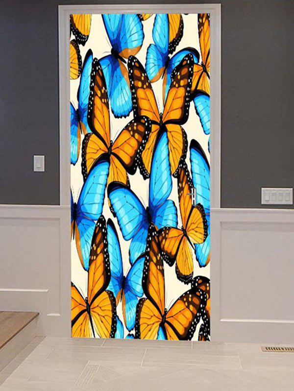 Outfits Butterflies Print Door Cover Stickers