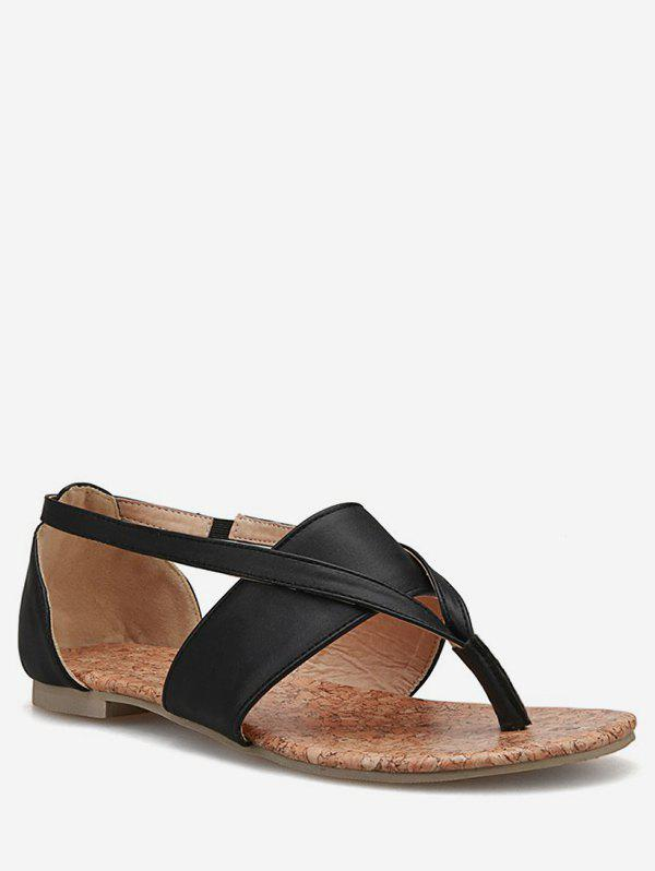 Shops Plus Size Leisure Flat Heel Holiday Thong Sandals