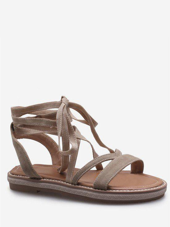 Sale Plus Size Leisure Vacation Lace Up Sandals